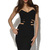 Black Strapless Dress - Cage Side Cut Out Midi   UsTrendy