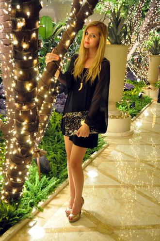chiara the blonde salad black dress dress