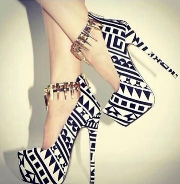 shoes black white shoes