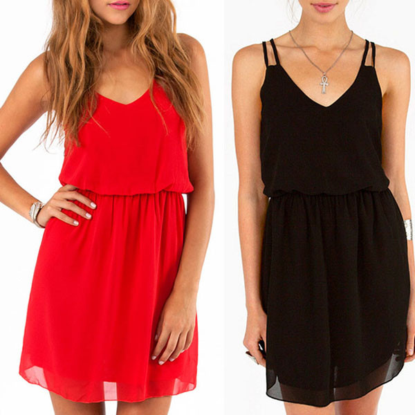 dress chiffon sexy red spring summer red dress sexy prom dress dress style simple dress black summer outfits mini dress black dress summer dress
