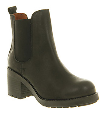 Office Urban Black Leather - Ankle Boots