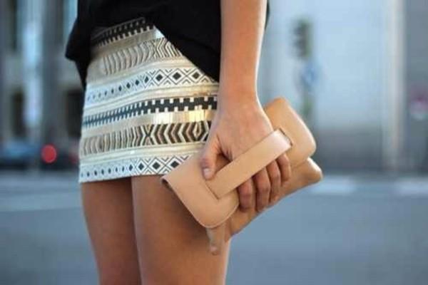 shirt skirt glitter aztec skirt sequins gold high waisted skirt