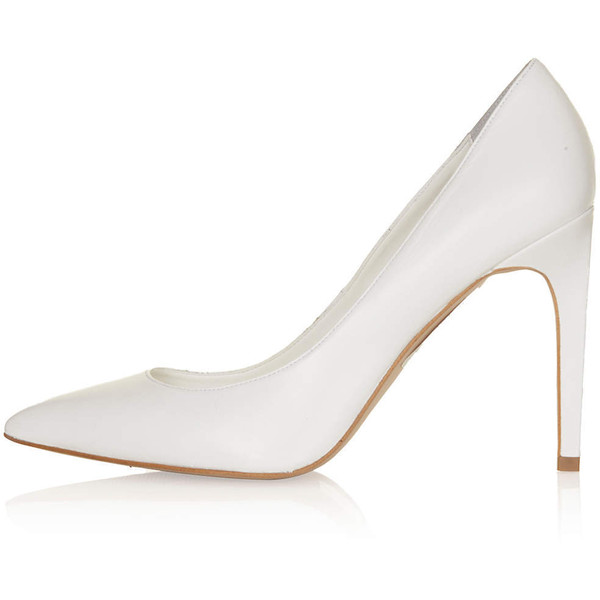 TOPSHOP GLORY White High Court Shoes - Polyvore