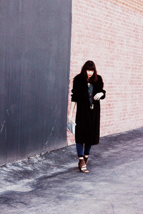 the stylish wanderer coat jeans bag shoes