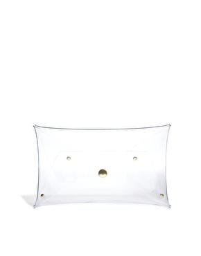 Klear Klutch   Klear Klutch Small Clear Transparent Clutch Bag at ASOS