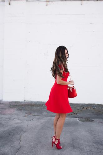 mint arrow blogger dress bag shoes red dress sandals high heel sandals red heels red bag