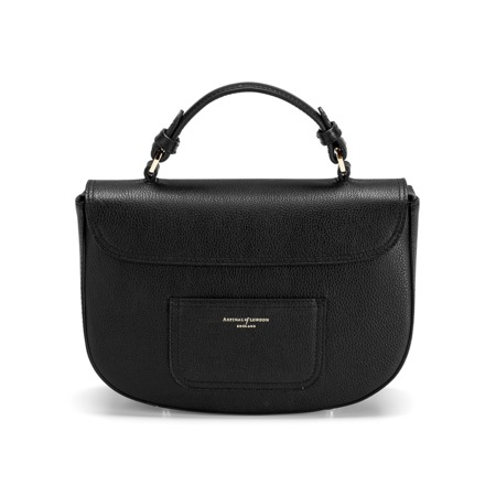 Buy The Aspinal Letterbox Saddle Bag In Black Pebble