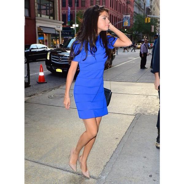 selena gomez blue dress shoes