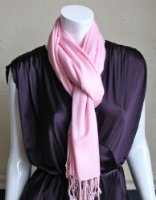 Amazon.com: LibbySue-A Luxurious Pashmina Scarf in Beautiful Solid Colors (Hot Pink): Clothing