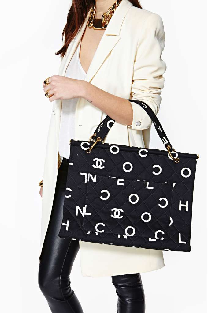 Vintage Chanel Quilted Letter Tote | Shop Lookbooks-The-Ultimate-Score at Nasty Gal