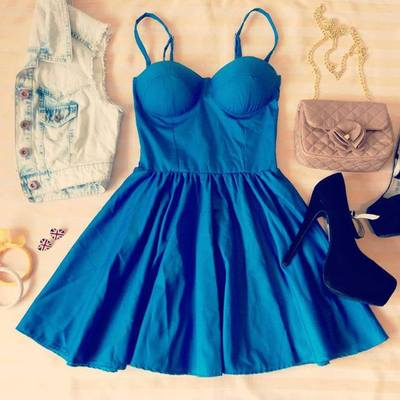 BLUE UNIQUE FLIRTY BUSTIER DRESS · Humbly Glam · Online Store Powered by Storenvy