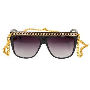 Amazon.com: iB-iP Womens Golden Chain Sunglasses Fashion Eyewear, Gold: Clothing