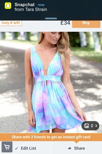 pastel galaxy print cute dress beautiful white