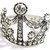 Crown Cuff Bracelet Silver