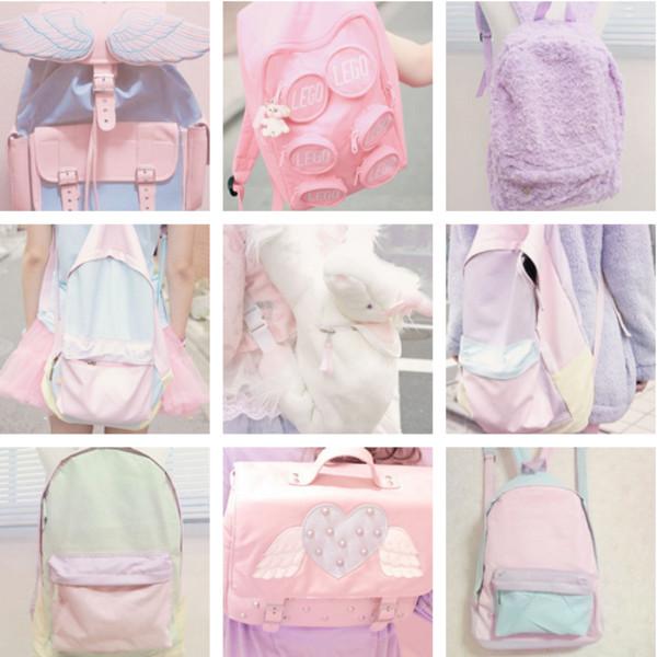 bag backpack pastel