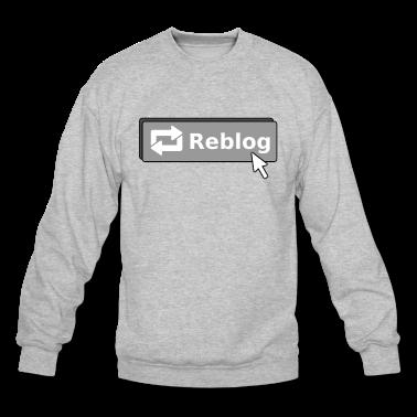 Tumblr Reblog Button Crewneck Sweatshirt | Spreadshirt | ID: 9268359