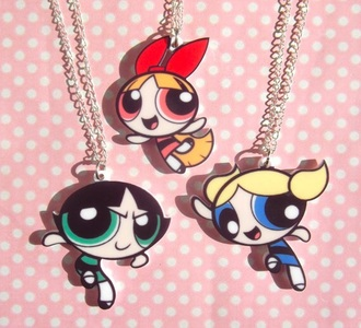 home accessory necklace girl girly girly wishlist the powerpuff girls love pop art pop punk style style scrapbook style me instgram tumblr tumblr outfit tumblr girl