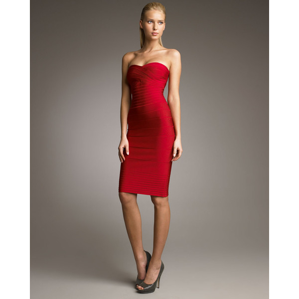 dress dress girl chic clubwear sexy lady bqueen fashion elegant bodycon party evening dress bandage bandage dress red strapless