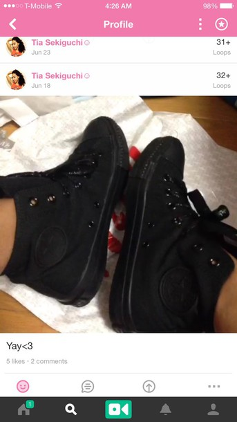 shoes does anybody know where to get these black converse?