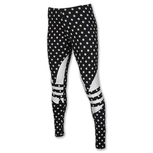 Women's adidas Originals Dot Leggings| Finish Line | Black/White