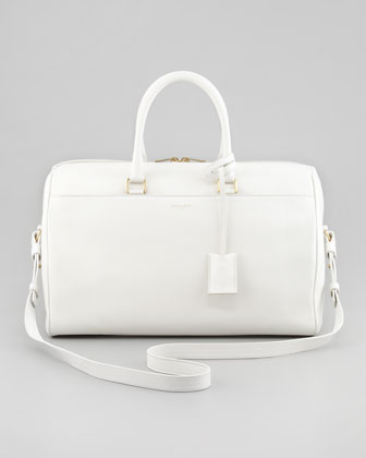 Saint Laurent Medium Classic Duffel Bag, Off White - Bergdorf Goodman