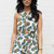 Pineapple Print Crossover Front Playsuit in White with Yellow – One Nation Clothing
