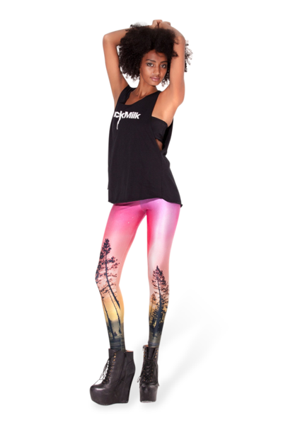 Aurora Skye Orange Leggings › Black Milk Clothing