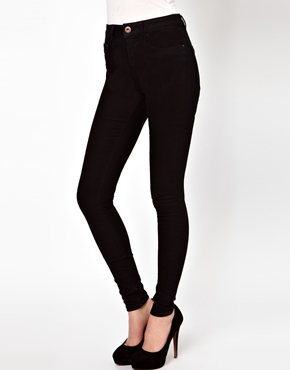 ASOS   ASOS Ridley Supersoft Ultra Skinny Jeans in Clean Black at ASOS