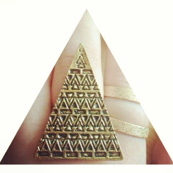 jewels ring pyramid cool triangel fashion from