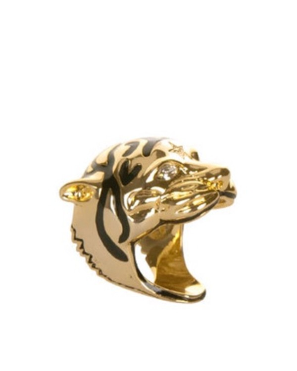 jewels ring tiger tiger head gold gold ring