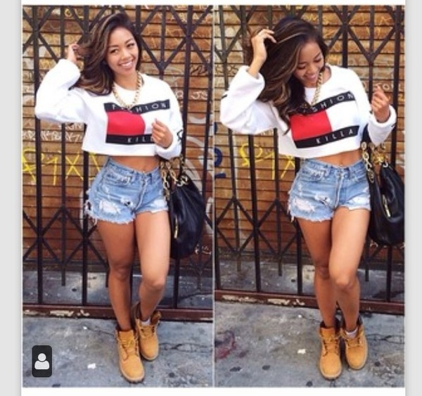 blouse fashion killa shoes sweater shirt top crop tops white crop tops tommy hilfiger tommy hilfiger crop top