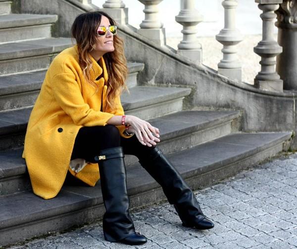 rebel attitude coat shoes t-shirt jewels dress