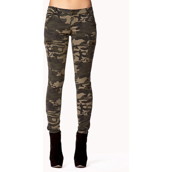 FOREVER 21 Camo Skinny Jeans - Polyvore
