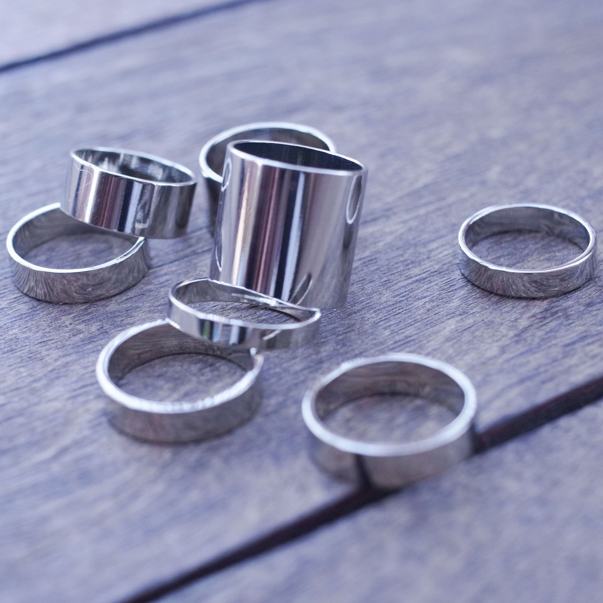 Stack Metal Knuckle Ring Set   HELLO PARRY