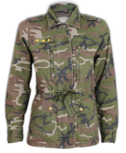 Ladies Jacket Women Coat Brave Soul Camouflage Army Military Print Studs Summer   eBay