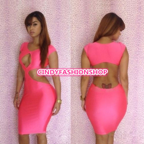 2014 New Hot Sexy Women Party Evening Cap Sleeve Club Bandage Bodycon Dress | eBay