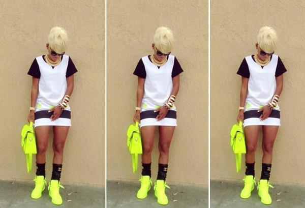 skirt jai nice neon shirt bag t-shirt
