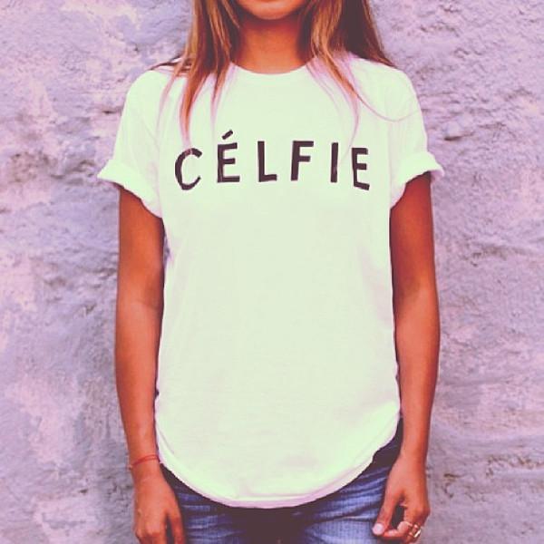 shirt celfie celine selfie top t-shirt t-shirt vanityv vanity row rock vogue dress to kill love casual