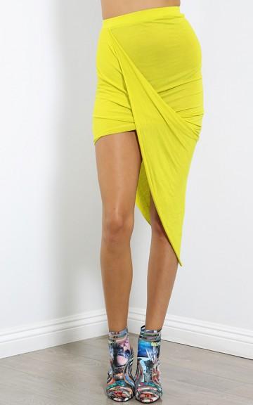 Twist Over Draped Skirt   MakeMeChic.com