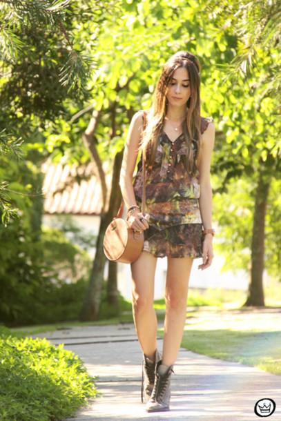fashion coolture blogger top combat boots print