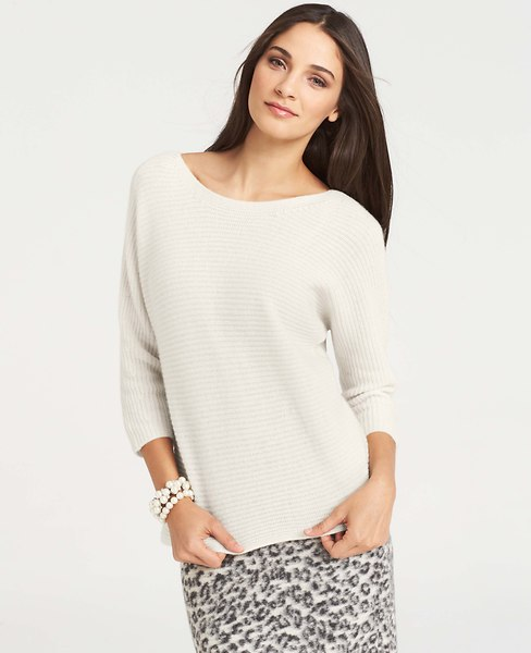 Ribbed Wedge Sweater | Ann Taylor
