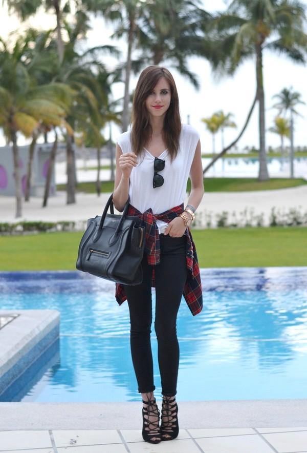 vogue haus t-shirt blouse jeans shoes bag jewels sunglasses