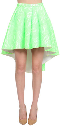 Muehleder Katy Lace Skirt in White/Neon Green - ShopStyle