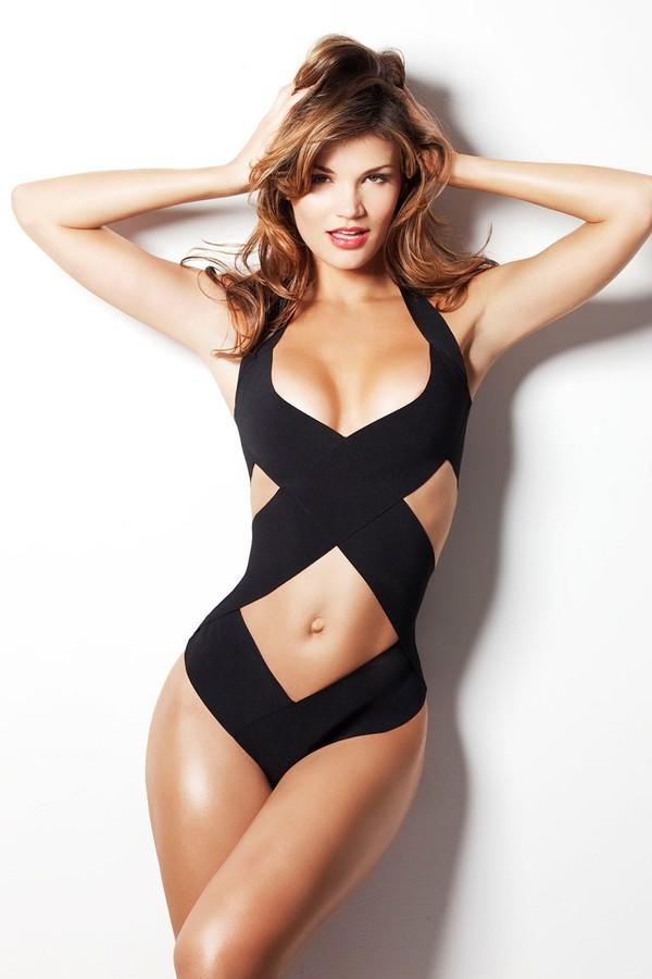 swimwear swimwear black criss cross one piece swimsuit black bikini bandage bikini
