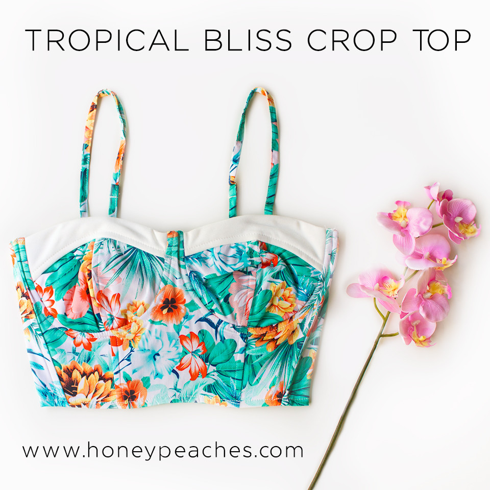 Tropical Bliss Crop Top - White – Honey Peaches