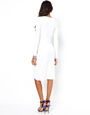 ASOS | ASOS Deep Plunge Midi Dress at ASOS