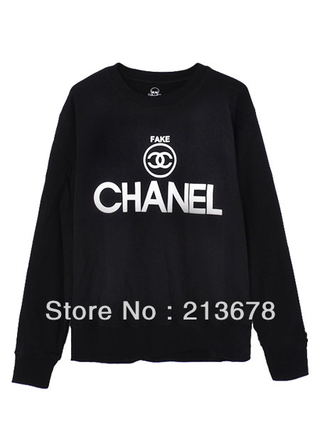 2013 New Spoof Fake Circular Logo Black Sweatshirt(Couple Style Of Women And Men) Fashion Hoodies Freeshipping-in Hoodies & Sweatshirts from Apparel & Accessories on Aliexpress.com