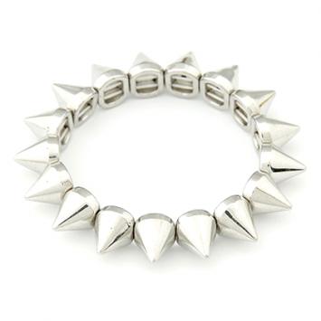 Silver Color Spike Bracelet