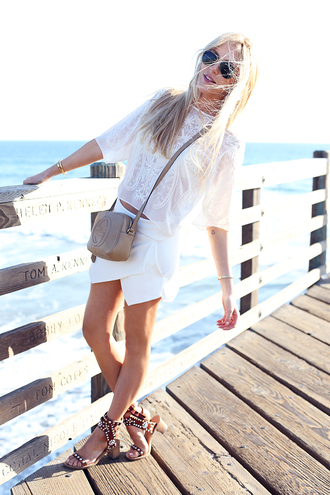 cheyenne meets chanel t-shirt skirt shoes bag sunglasses