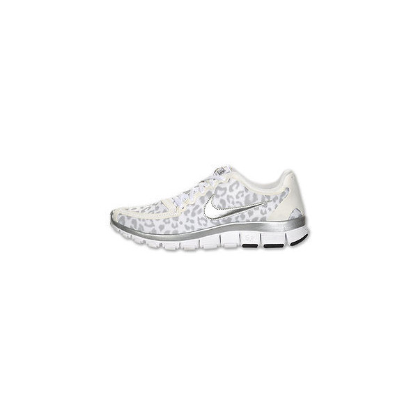 Nike Wmns FREE 5.0 V4 WHITE LEOPARD Running shoes flyknit ja... - Polyvore